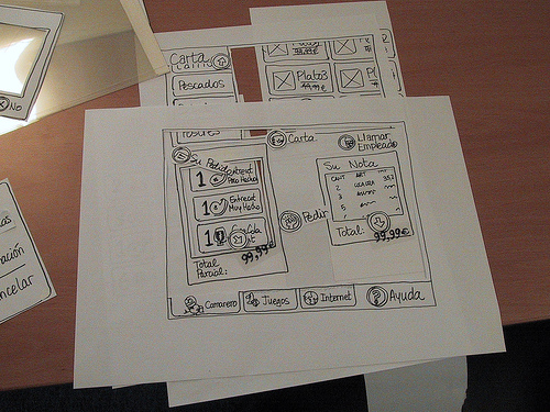 Example of Paper Prototyping